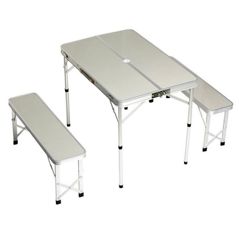 Table With Bench Seats: Portable Folding Picnic Table With Bench Seats