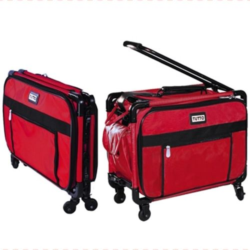 Tutto Large Sewing Machine Trolley Bag W Wheels Red Buy