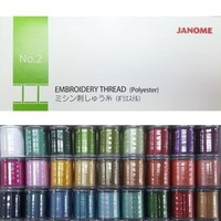 Janome Embroidery Thread Box No. 2 - 27 Colour Set
