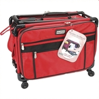 Tutto Medium Sewing Machine Bag w/ Wheels in Red