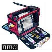 Tutto Large Sewing Machine Trolley Bag w Wheels Red
