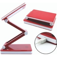 Triumph Rechargeable LED Folding Desk Lamp in Red