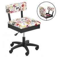Horn Gas Lift Storage Sewing Chair in Multi Colour