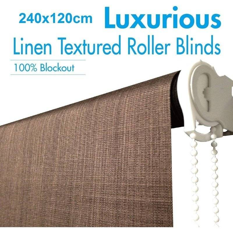 Polyester Blockout Roller Blinds Coffee 240x120cm Buy