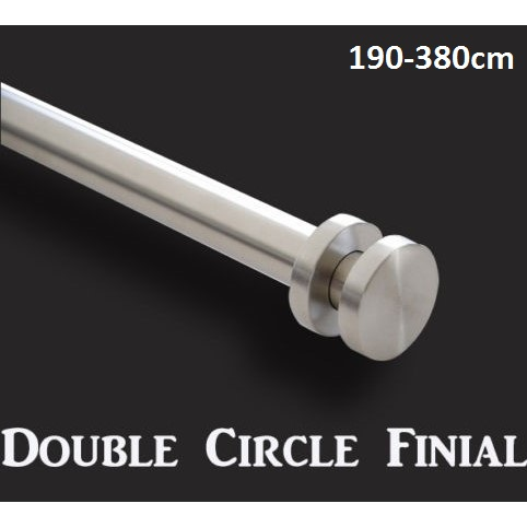 Extendable Curtain Rod And Circle Finial Set 380cm Buy