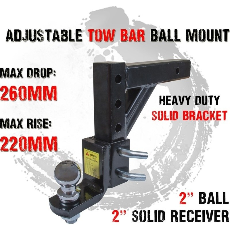 Adjustable Tow Bar Ball Mount Tongue Hitch 2in Ball Buy