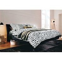 Capsa King Size Quilt Cover Set in Leopard Print