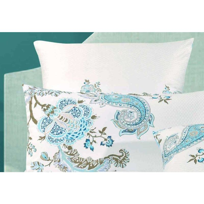 King Cotton Quilt Cover Set In Blue Paisley 250tc Buy