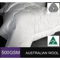 500GSM Australian Downs Wool Quilt (Single/ Double/ Queen/ King/ Super King Options)