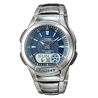 Casio Mens Steel Sports Analogue Digital Watch Blue