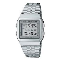 Casio Mens Digital Watch in Vintage Silver A500WA-7