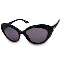 Dior Ladies Panther Carved Sunglasses Black & Grey