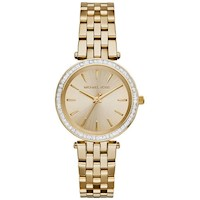 Michael Kors Mini Darci Steel Womans Watch in Gold