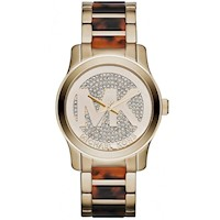 Michael Kors Ladies Runway Watch in Gold w Crystals