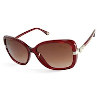 Michael Kors Beverly Ladies Sunglasses w/ Red Frame