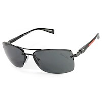 Prada Sport Rimless Men's Sunglasses in Matte Black