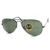 Ray Ban Unisex Aviator Sunglasses in Green & Black