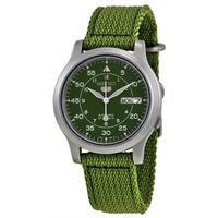 Seiko Nylon Strap Automatic Men's Watch in Green