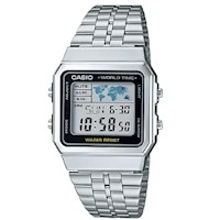 Casio Digital Mens Watch in Silver & Black A500WA-1