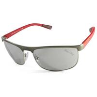 Prada Sport Unisex Sunglasses Brushed Gunmetal Red