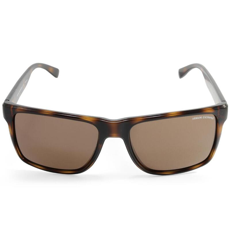 ad3965ca3174 h m s Remaining. Armani Exchange AX4016 803773 Polished Tortoise Brown  Unisex Sunglasses
