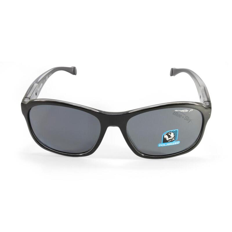 73c0bd3c50 h m s Remaining. Arnette AN4209-02 2159 81 Uncorked Black-Clear Grey  Polarised Sunglasses