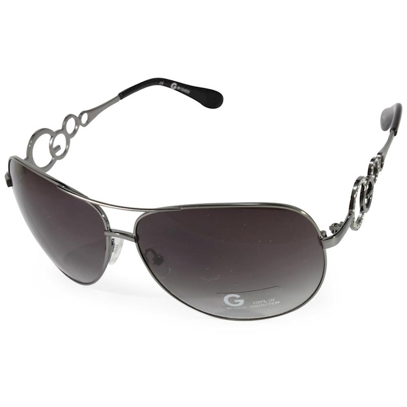 ebcf77d45d8 G by Guess GGU1058 Gummetal/Grey Gradient Women's Avaitor Sunglasses