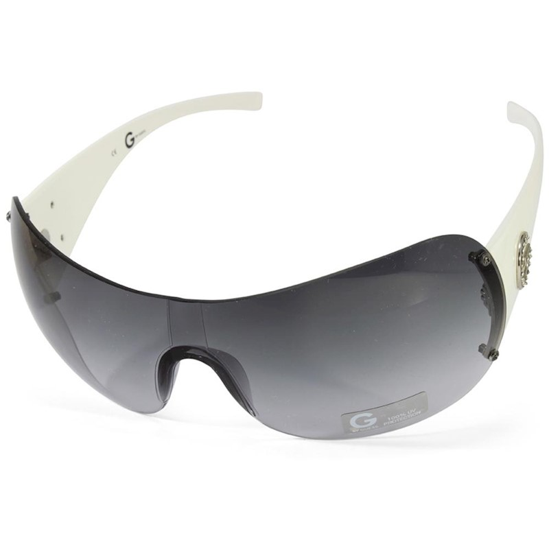 f6c7f635659 G by Guess GGU1092 White/Grey Gradient Women's Shield Sunglasses