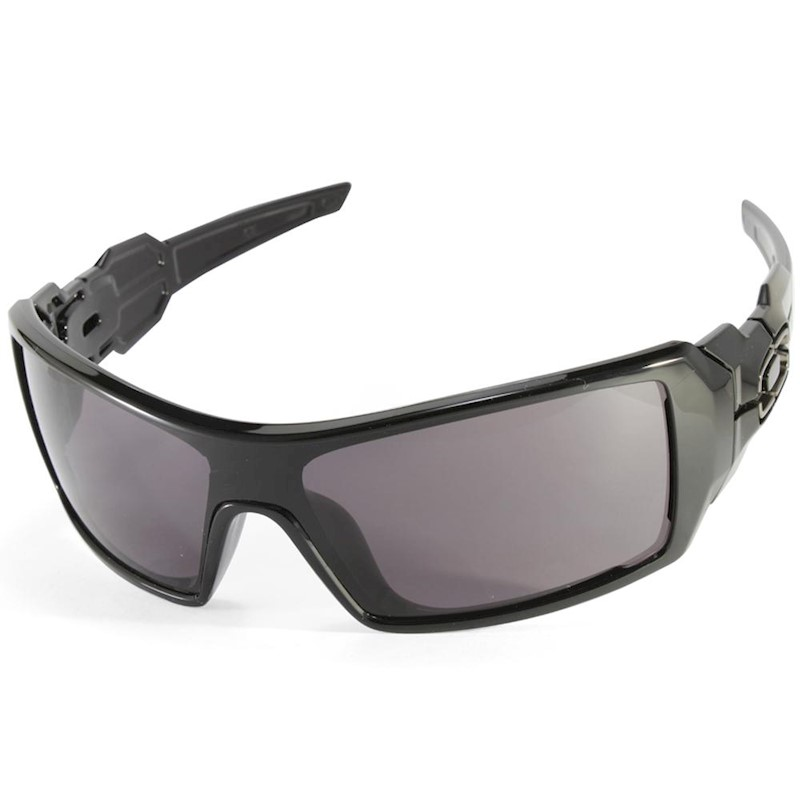 0597f91f070e h m s Remaining. Oakley Oil Rig OO9081 03-460 Polished Black Warm Grey  Men s Sunglasses