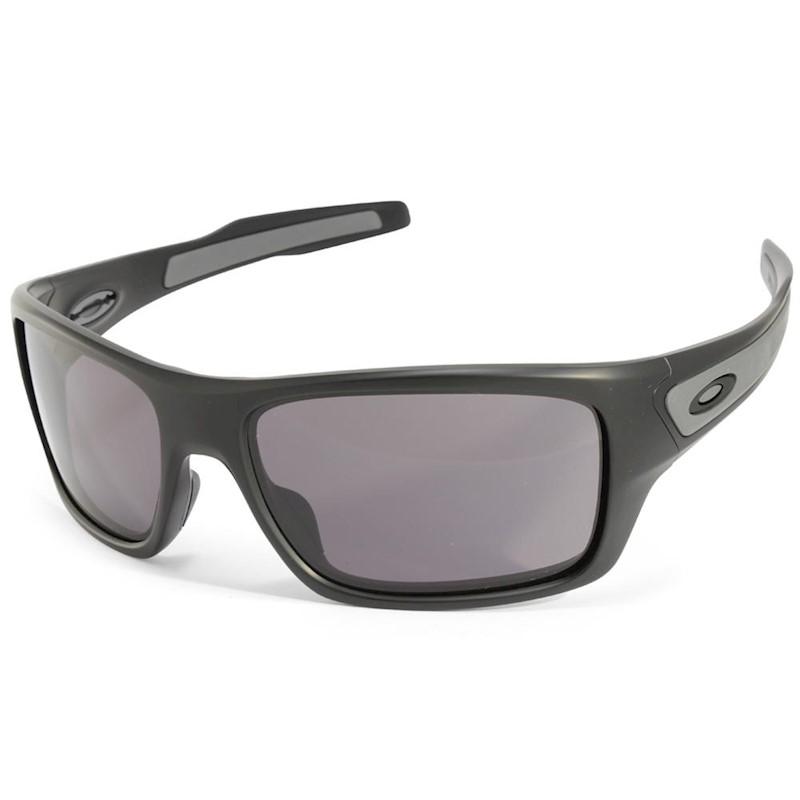 bbe65de6e37 h m s Remaining. Oakley Turbine OO9263-01 Matte Black Warm Grey Sunglasses