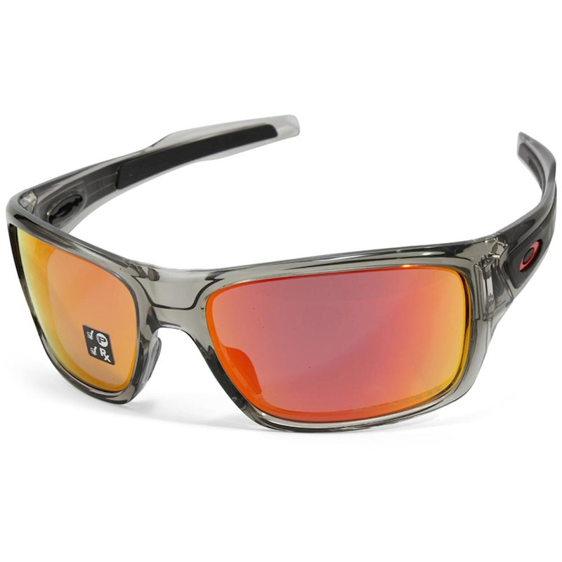 f0e00fa52e h m s Remaining. Oakley Turbine OO9263-10 Grey Ink Ruby Iridium Polarised  Sunglasses