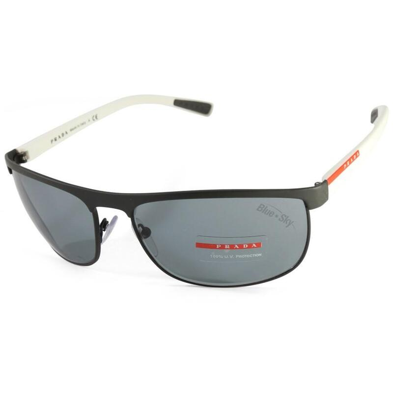 fc10ed483b0b h m s Remaining. Prada Sport PS 54QS TIG3C2 Matte Grey-White Dark Grey  Sunglasses