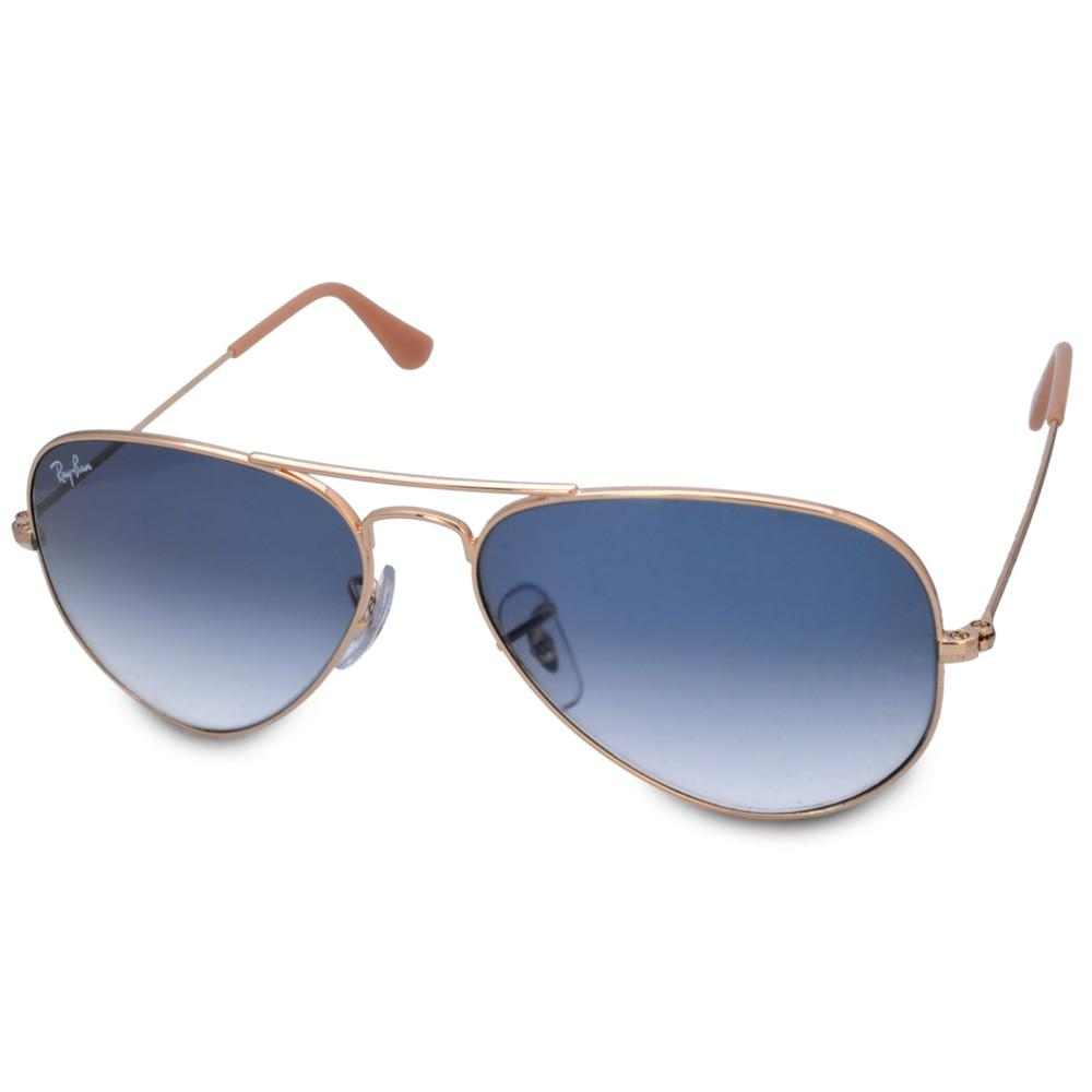 018764c6d37 Ray-Ban RB3025 001 3F Aviator Gold Light Blue Gradient Sunglasses ...