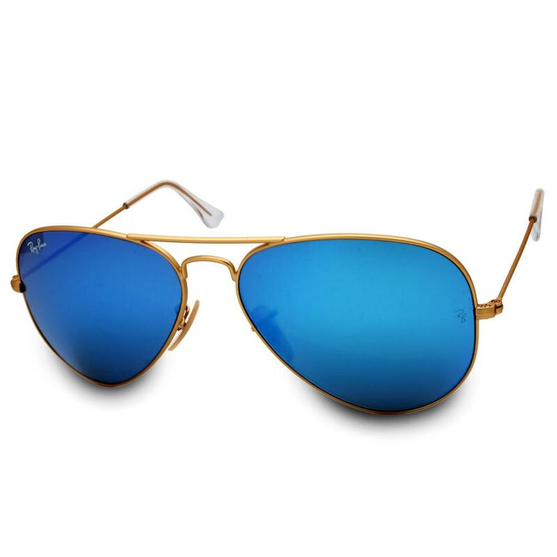 a743e015ca Ray-Ban RB3025 112 17 Aviator Gold Blue Mirror Sunglasses