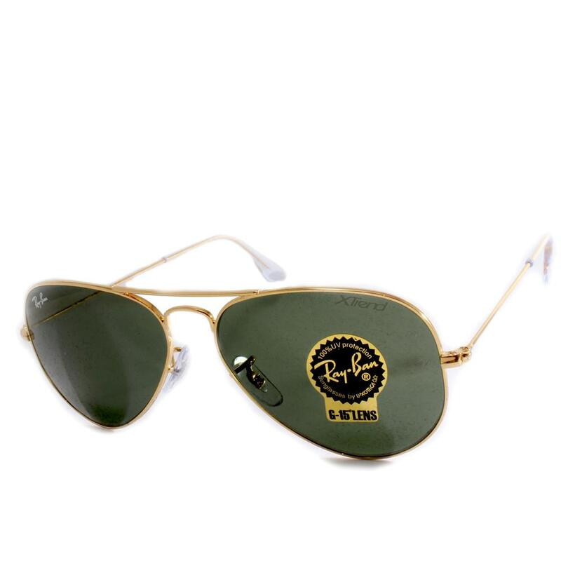5e391bff30 h m s Remaining. Ray-Ban RB3025 W3234 Aviator Gold Grey-Green Sunglasses
