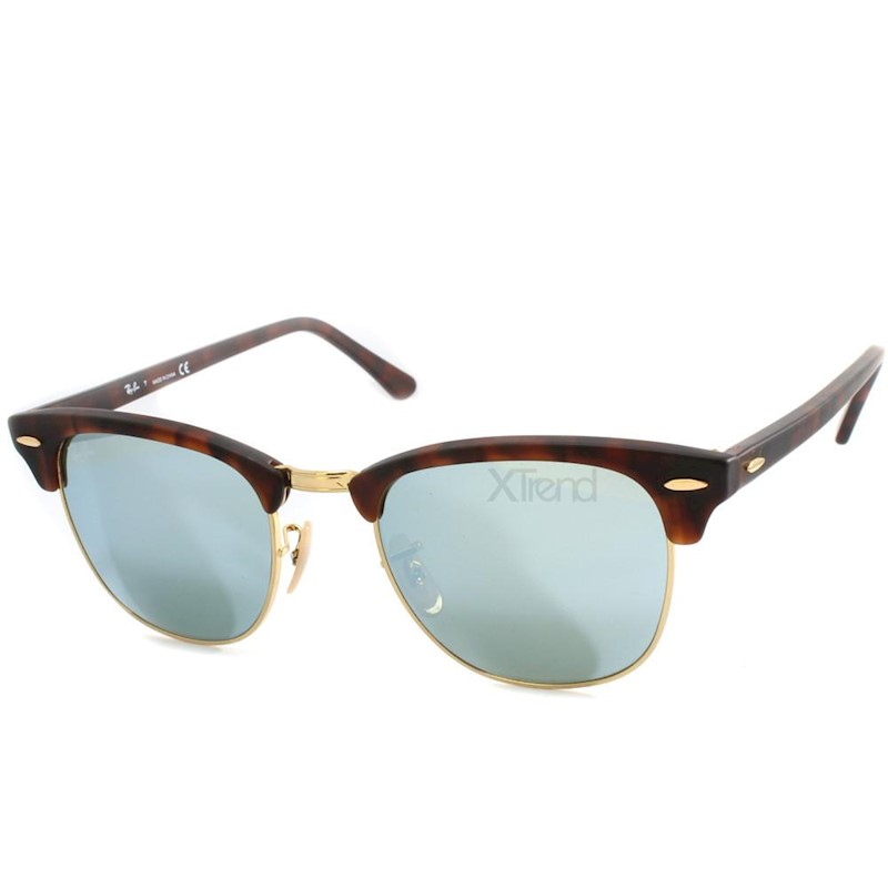51b34d5a9 Ray-Ban RB3016 114530 Clubmaster Tortoise/Silver Mirror Sunglasses | Buy  Sunglasses - 204460