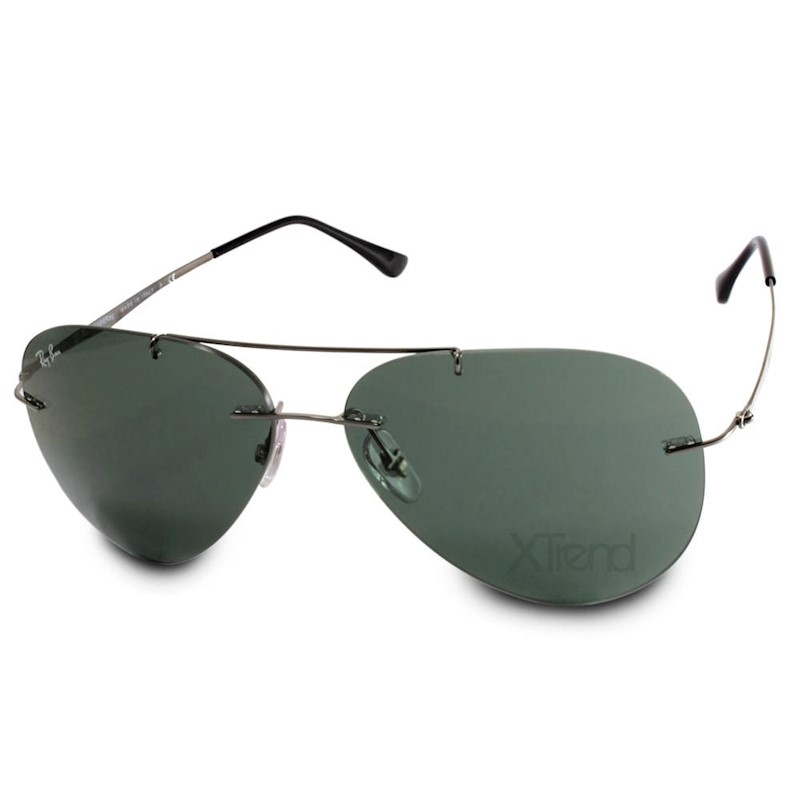 e9918b3bf h m s Remaining. Ray-Ban RB8055 004/71 Aviator Light Ray Gunmetal/Green  Sunglasses