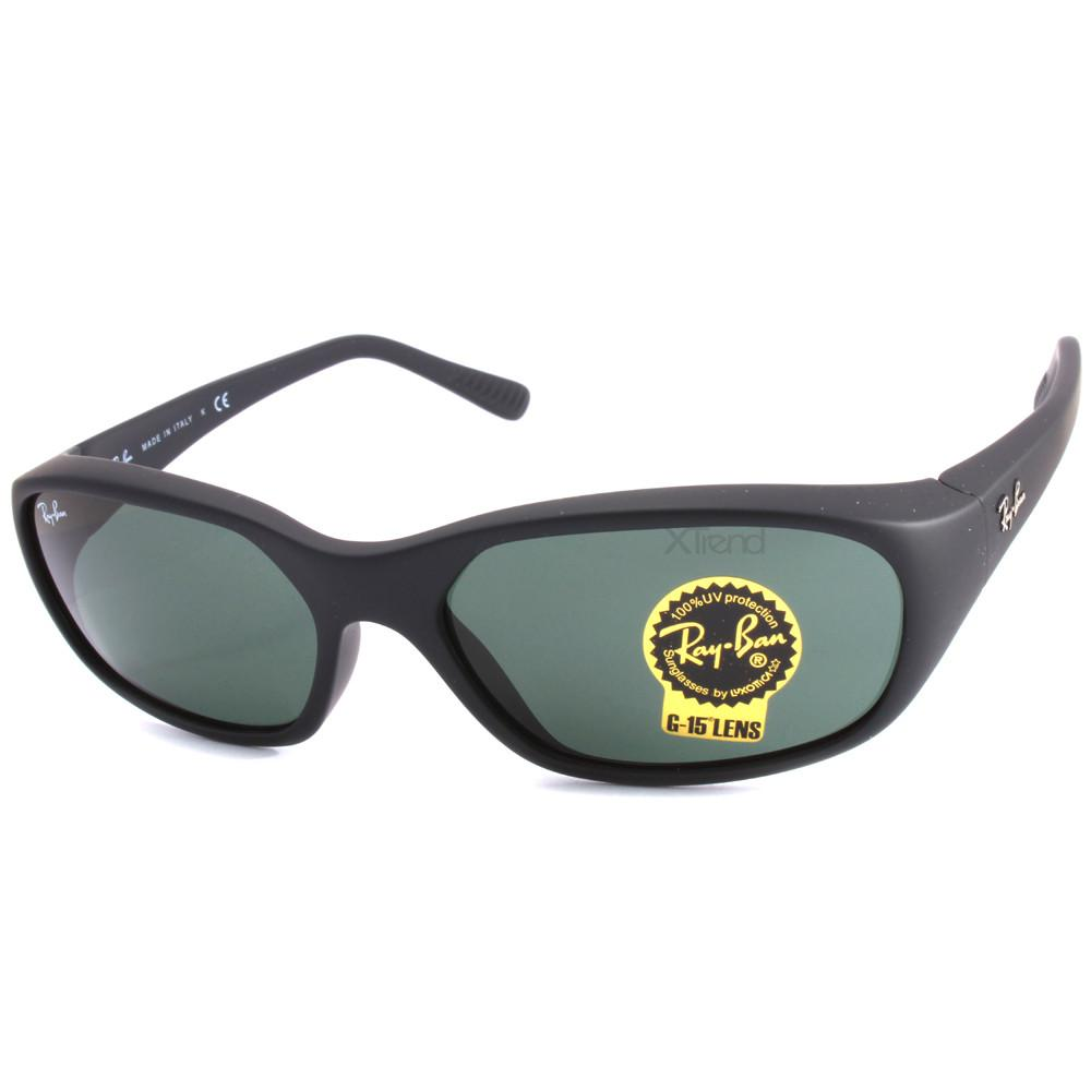 bcd766bd11 Ray-Ban RB2016 W2578 Daddy-O Matte Black Green G15 Men s Sunglasses ...