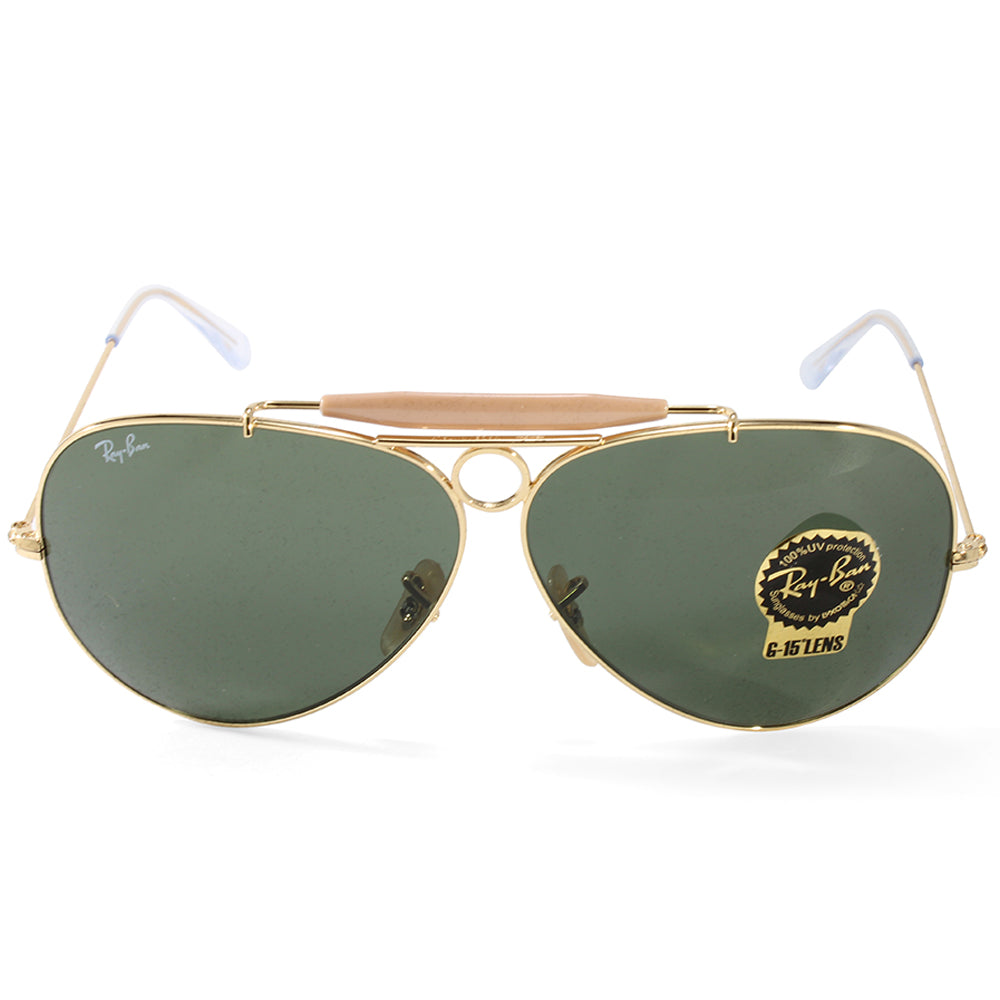 da23fc5e0e4d6 ... 181 71 62 f928e 187cf  low price ray ban rb3138 001 aviator shooter  gold green unisex sunglasses. h m s remaining a7a71
