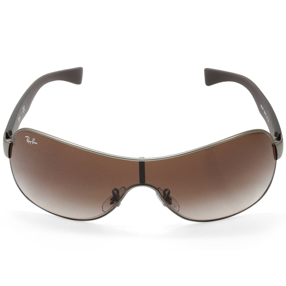16d263adb6 h m s Remaining. Ray-Ban RB3471 029 13 Youngster Gunmetal Brown Gradient Shield  Sunglasses
