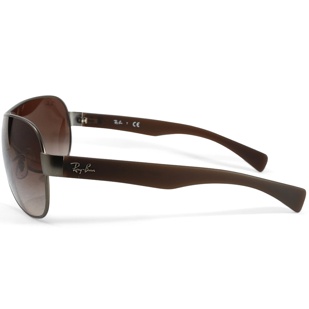 c900ab0027 h m s Remaining. Ray-Ban RB3471 029 13 Youngster Gunmetal Brown Gradient  Shield Sunglasses