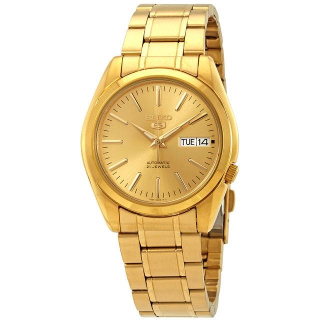 54a46284cd7 h m s Remaining. Seiko 5 SNKL48 K1 Yellow Gold Stainless Steel Men s  Automatic Analog Watch