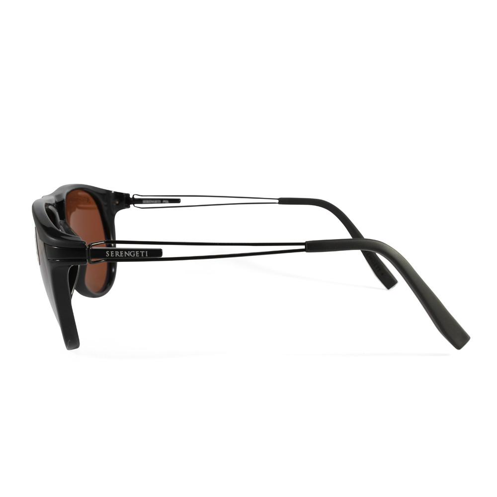 cdab2af539 h m s Remaining. Serengeti Udine 7758 Black Brown Polarised Unisex  Sunglasses