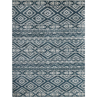 Feza Hand Knotted Wool & Viscose Rug in Steel Grey
