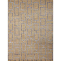 Maya Hand Knotted Wool & Art Silk Rug in Gold