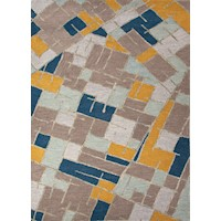 Kellie Handmade Flat Weave Wool Rug in Multicolour