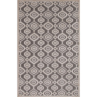 Tufted Rayon Chenille Rug in Monument & Light Grey