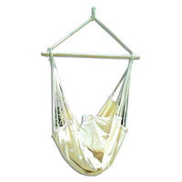 Canvas Hammock Chair with Pillows in Beige