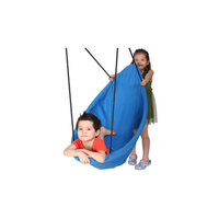 Kids Outdoor Canoe Nest Swing in Blue 150cm