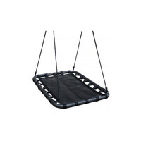 Kids Rectangle Mat Nest Swing in Black 100cm